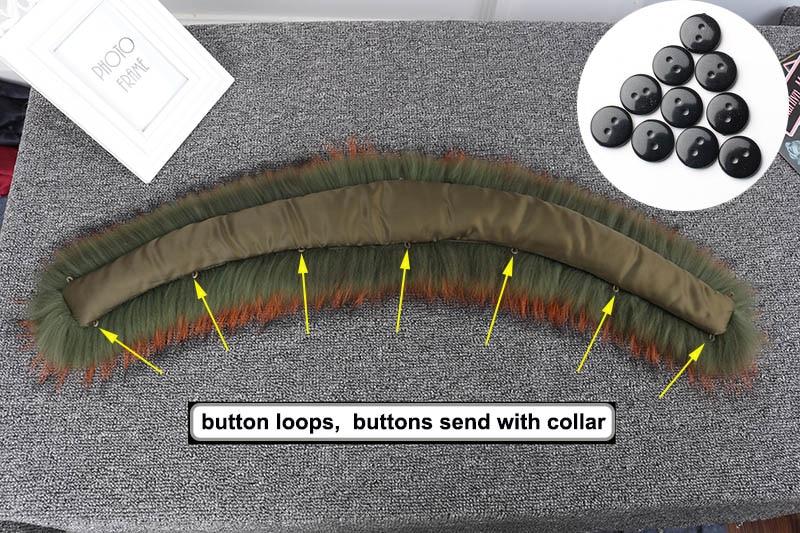 raccoon fur collar with loops 2