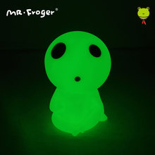 Mr.Froger Figure Hayao Miyazaki Action Figure Doll Mononoke Luminous Piggy Coins Bank Kodama Toy Cute Light Up Noctilucent Toys(China)