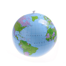 Hot Sell 40CM Globe Map Balloon Toy Beach Ball Early Educational Inflatable Earth World Geography Interesting High Quality(China)