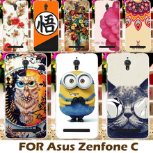 Painting design Hard Plastic Case For Asus ZenfoneC Covers ZC451CG Z007 Zenfone C 4.5 inch Cell Phone Cover shell Sleeve Coque