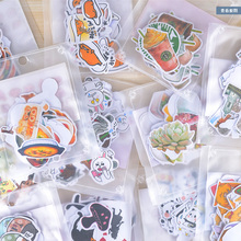 11-38 pcs/bag Cute cartoon animals paper sticker child dress up diy decoration sticky album diary scrapbooking toys for kids(China)