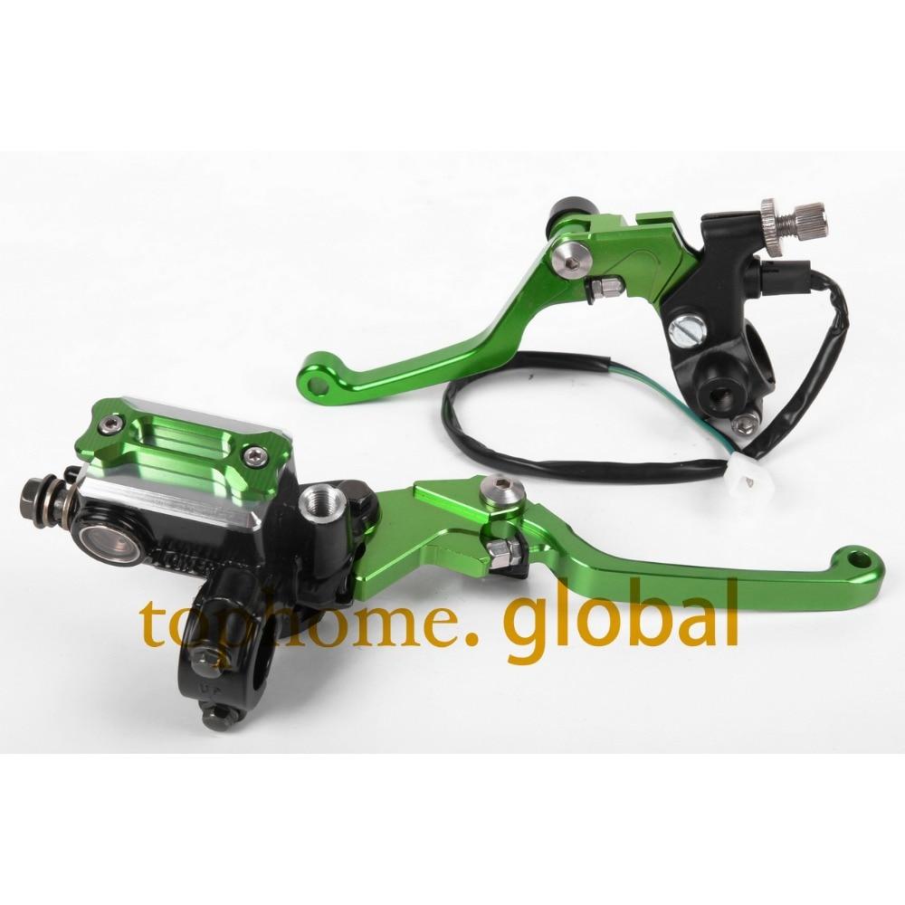 New CNC 7/8 Brake Master Cylinder Pressure Switch Reservoir Levers Dirt Pit Bike Set For KAWASAKI KX250 2000-2001 2002-2004<br><br>Aliexpress
