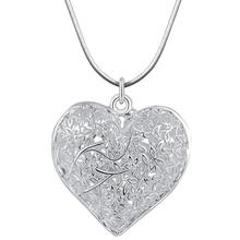 Necklaces Fashion Jewelry Charm Silver Plated Pendant Heart Hollow Necklace Elegant Retro Dropshipping Sept19