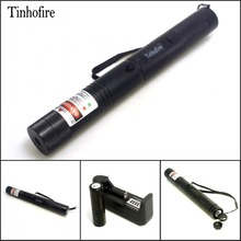 Tinhofire Laser 308 laser pen 2 in 1 two-color red and green star 200mw laser pointer+4000mah 18650 battery + Charger(China)