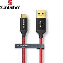 Buy Suntaiho Fever Level USB cable Nylon Fashion Metal Shell Gold Plated Data USB Fast Charging Cord Samsumg Xiaomi HTC Sony for $1.50 in AliExpress store