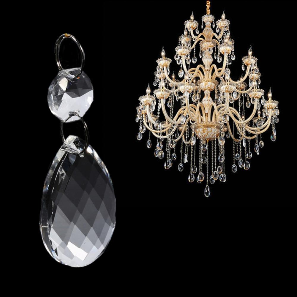 10PCS Excellent Crystal Glass Chandelier Lamp Lighting Prisms Hang Pendants