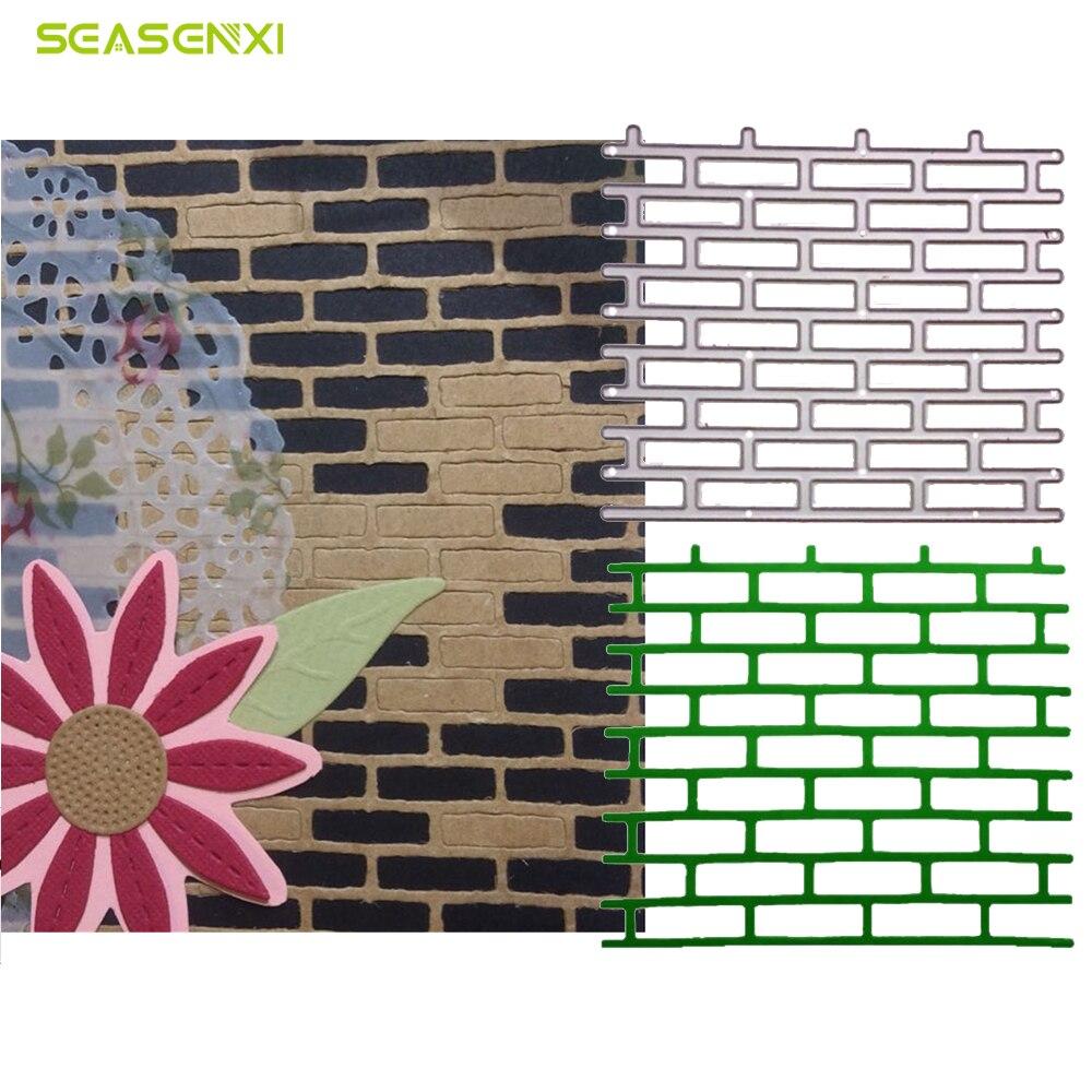 Wall Brick Cutting Dies Stencil for Album Embossing Scrapbook Paper Craft