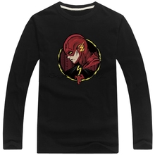 Hot Sell 2017 The flash T-shirt Martin star star Lab Long Sleeve Men's Guitar Cool T Shirt Printed Casual Patriots Tees