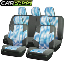 Car-pass 11PCS Universal Automobiles Seat Covers Super Breathable Linen Fabric Car Seat Cover For Four Season Common Accessories(China)