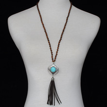 Yoga Japa Mala Beads Tassel Necklace Hippie Collier Pompon Tribal Necklace Indian Native American Jewelry  Online Shopping India