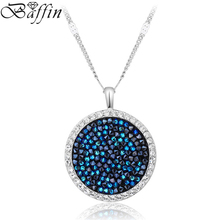 BAFFIN 100% Original Crystals From SWAROVSKI Maxi Round Necklace Pendant For Women Party Wedding Accessories Best Gifts Joyas