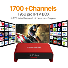 Android Tv Box Amlogic S912 Octa-Core Smart Tv with 1700+IPTV Arabic European UK Italy Channels Subscription HD IPTV Set Top Box