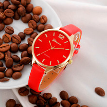 6 Colors Women Bracelet Watch Famous brand Ladies Faux Leather Analog Quartz Wrist Watch Clock Women relojes mujer 2017(China)