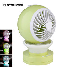 Portable Outdoor Mini Fans with LED Lamp Light Table USB Fan Spray Water Humidifier Personal Air Cooler Conditioner for Home(China)