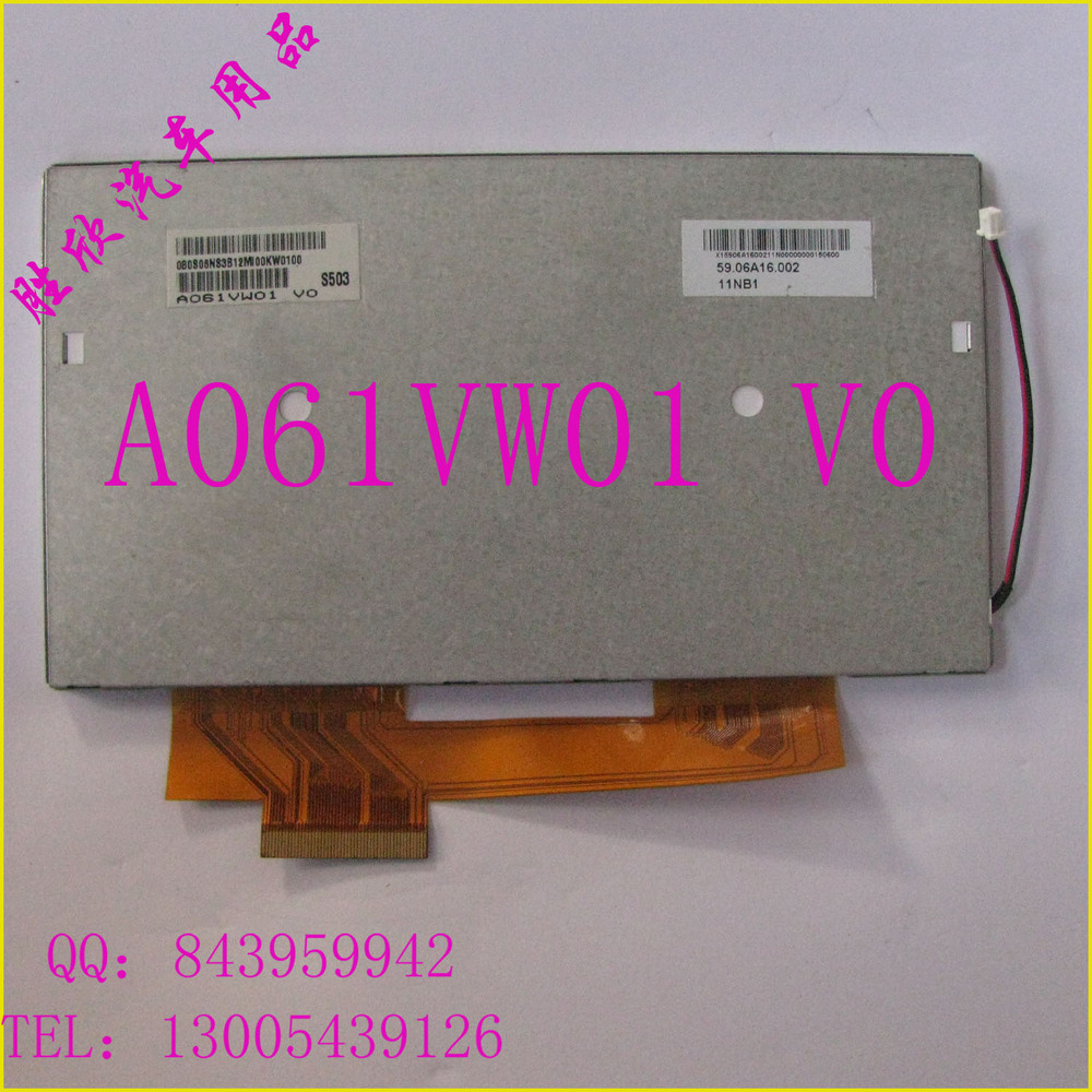 Free shipping 6.1inch LCD screen A061VW01 V0 for Car DVD,Navigation Display screen<br>