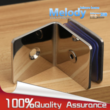 Me-h90l bathroom clip glass fitted clip 304 stainless steel glass clamp partition code 90 degree wall to glass fixed(China)