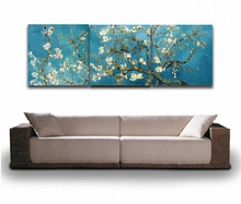 3 Piece Wall Art Van Gogh Blossoming Almond Tree Canvas Painting HD Canvas Prints Art for Office Living Room Decoration