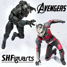 SHF Captain America Civil War Ant Man Black Panther Black Widow Cartoon Toy Action Figure Model Doll Gift