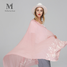 MEICHE Lady foulard Embroidered scarf shawl for women from india shawl scarves winter pashmina cotton voile scarf luxury brand(China)
