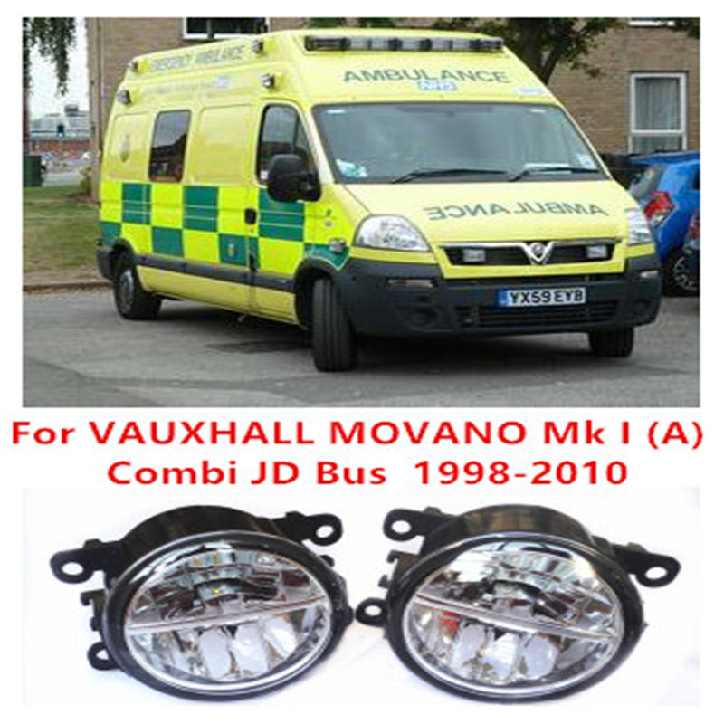 For VAUXHALL MOVANO Mk I (A) Combi JD Bus  1998-2010 10W Fog Light LED DRL Daytime Running Lights Car Styling lamps<br><br>Aliexpress