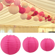 8 inch 20 cm Round Paper Lanterns Lamp Shade Wedding Party Christmas Decorations Mulit Color Option Diversiform Gift Craft DIY(China)