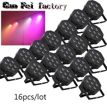 16pcs/lot 7 x 12W RGBWA 4in1 Waterproof Led Par Light Outdoor LED Par Cans DMX LED PAR Light 8Channels No Noise Mini Size