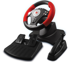 ViGRAND Free Shipping Wired USB PS2/PS3/PC 3 in 1 Steering Racing Wheel with Pedal and Handbrake(China)