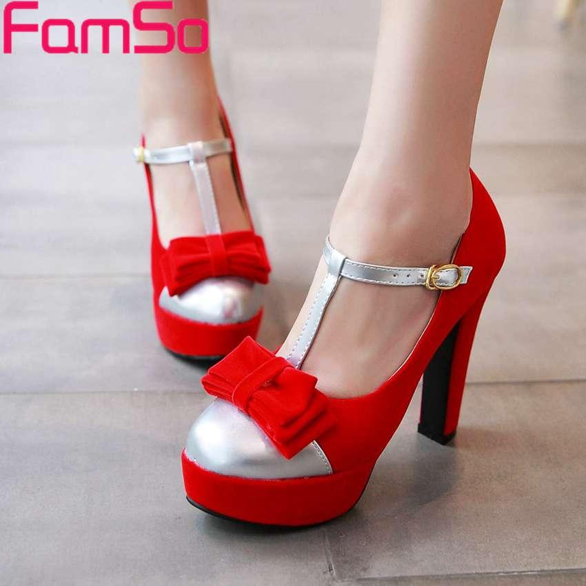 Plus Size34-43 2017 Shoes Women Pumps Black red Wedding Shoes Silver Patchwork Platforms Pumps Shoes Fashion Autumn Pumps PS2583<br><br>Aliexpress