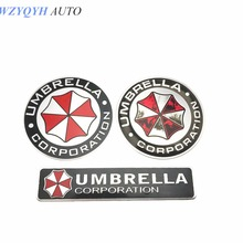3D Aluminum Umbrella corporation car sticker accessories stickers For ford focus cruze kia rio skoda mazda opel M bmw vw audi
