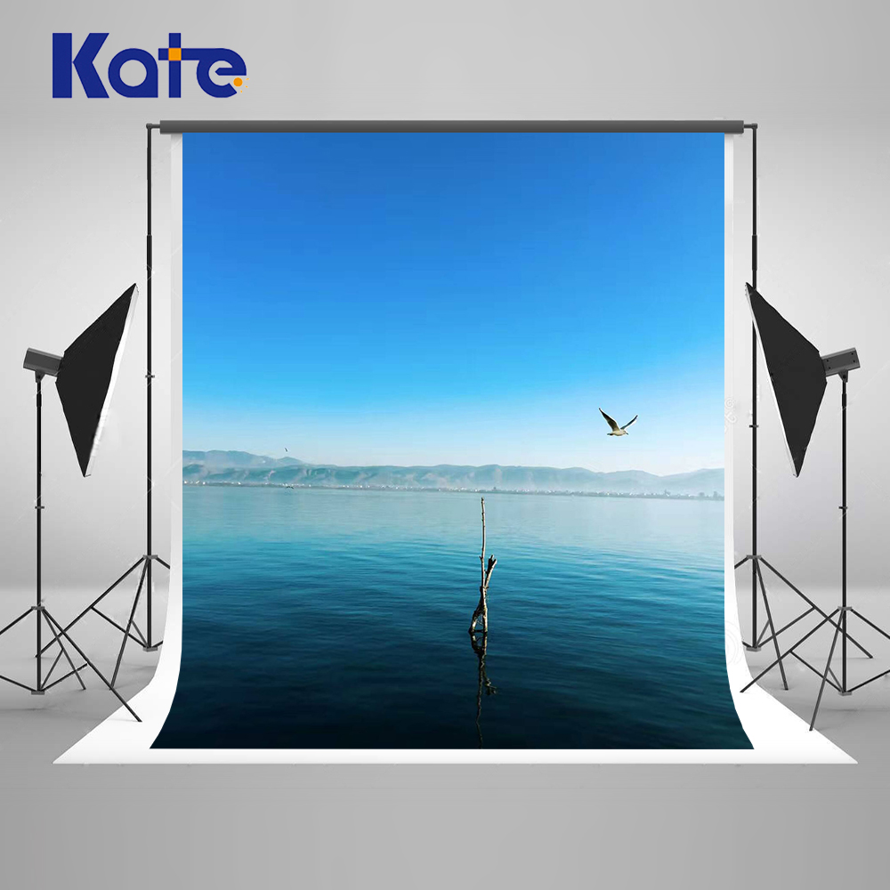 KATE Photography Backdrops Blue Background Sea Backdrop Nature Backdrops Scenery Backdrop Photocall Wedding for Photo Studio<br>