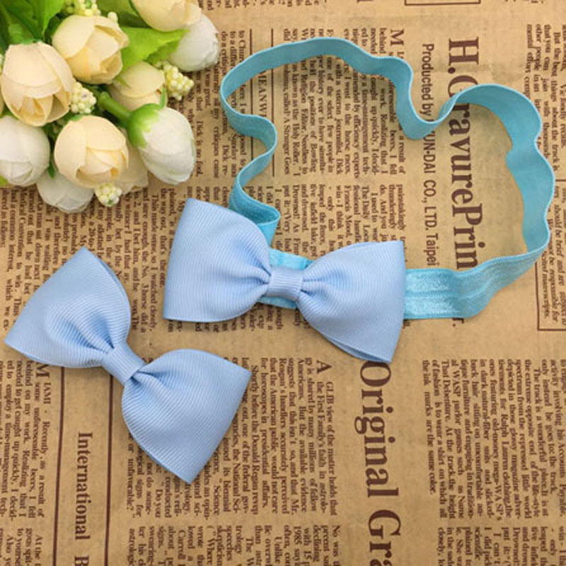 40pcs/ set 3 inches Solid Grosgrain Ribbon Boutique Baby Girls Toddler Hair Bow Snap Alligator Clips Barrettes Hair Accessories<br><br>Aliexpress