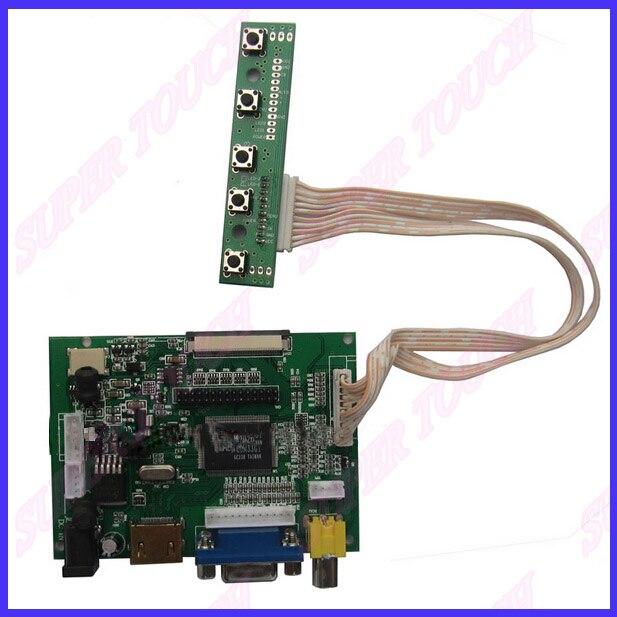 ZhiYuSun 7 inch for Raspberry PI / Pcduino / Cubieboard - (1024 x 600)  LCD Panel Digital LCD Screen and Drive Board(VGA+2AV)<br>