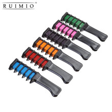 6pcs/Set Instant Hair Chalk Comb Shimmer Temporary Hair Dye Color Cream for Party Fans Cosplay DIY Fashion Crayons Styling Tools(China)