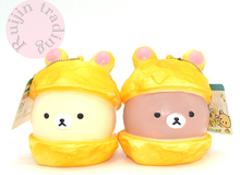 2017 new jumbo kawaii squishy fragrance Rilakkuma Cap bun slow rising queeze Kid toys cell phone with Tag bread cake wholesale(China)