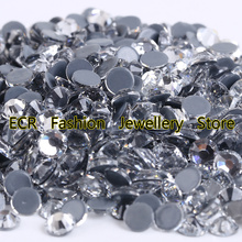 AAAA+ Best Quality Crystal Clear DMC Hot Fix Rhinestone More Shiny Super Bright Hotfix Iron On Stones.SS4-SS40(China)