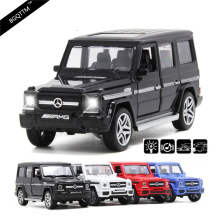 NEW High Simulation Luxury Suvs G65 AUTO 1:36 Diecast Metal Alloy Pull Back Cars Toy Pull Back Acousto-Optic Model Car Best Gift