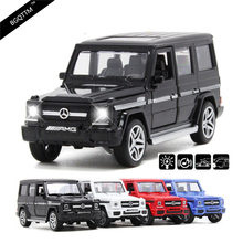 NEW High Simulation Luxury Suvs G65 AUTO 1:36 Diecast Metal Alloy Pull Back Cars Toy Pull Back Acousto-Optic Model Car Best Gift(China)