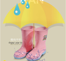 Rain Boots Kids Girl Boy Children Rainboots Baby plus velvet thermal Water Shoes Jelly Slip-resistant Shoes Rain Boots