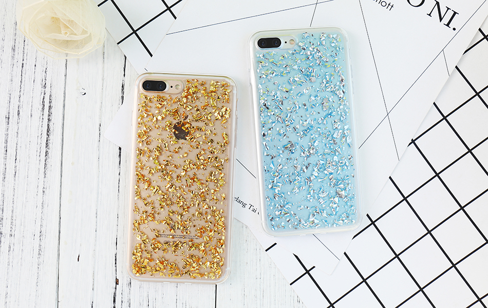 DOEES For iPhone 7 6 6S Plus 5 5S SE Case Luxury Cute Glitter Clear Case For Samsung Galaxy S8 Plus S7 S6 Edge S5 Note 7 5 Back Cover (12)