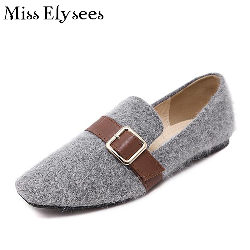 Round Toe Women Loafers Buckle Women Flats 2017 Spring Autumn Womens Shoes Slip on Leisure Ladies Shoes Zapatillas Mujer<br><br>Aliexpress