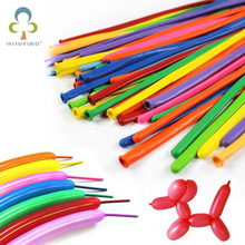 50pcs/lot Magic Balloons Long Balloon Modelling Latex balloons Clown balls Assorted Toys Birthday Weding Party Decoration GYH