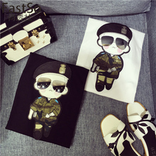 FastSo Cartoon Military Patch of Posted Camouflage Army Big Patch for T-shirt Denim Dress Iron on Sew Applique Embroidery BT220(China)