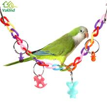 Acrylic Small Birds Toys Pet Toy Chew Swing Climb Ladder Scratcher Bites Toys For Cockatiel Parakeet Accessories
