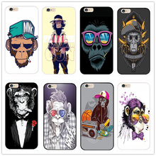 2016 new cartoon fashionable smoking chimp monkey For Apple iPhone 4 4S 5 5S 5C SE 6 6S 6Plus 6SPlus hard shell Phone Case Cover