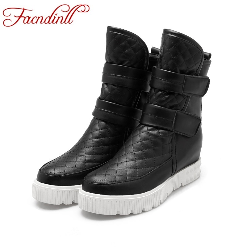 fashion women ankle boots wedge heels big size 34-43 ladies casual shoes black white winter boots platform classic shoes woman<br><br>Aliexpress