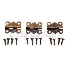 12pcs 20x17mm Mini Butterfly Hinges Jewelry Gift Wine Box Wood Dollhouse Door Hinge Cabinet Drawer Jewelry Box DIY Repair w/srew(China)