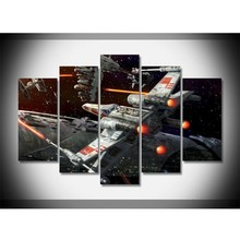 5 Panel Fashion Battleship Paintings Wall Art Home Decoration 5 Piece Print Canvas Painting For Living Room(China)