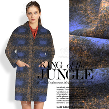 Custom import Golden color thick wool plaid coat cashmere fabric made handmade coat cloak wide cloth/100cm*150cm(China)
