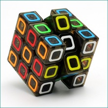 3x3x3 QiYi Mo Fang Ge Magic Cube Square Puzzle Speed Puzzle Cubes Transparent Color Rubber patch Educational Toys for Children