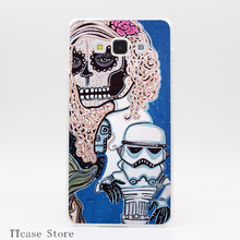 3293CA Star Wars Sugar Skull Transparent Hard Cover Case for Galaxy A3 A5 A7 A8 Note 2 3 4 5 J5 J7 Grand 2 & Prime